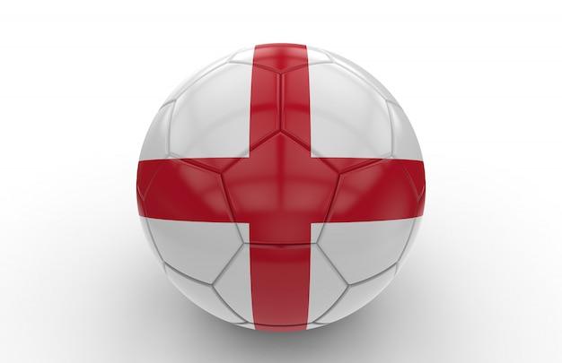 Ballon de foot avec drapeau anglais