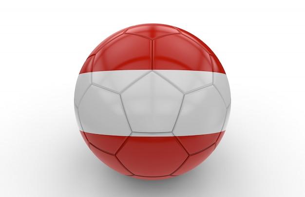 Ballon de foot avec drapeau autrichien