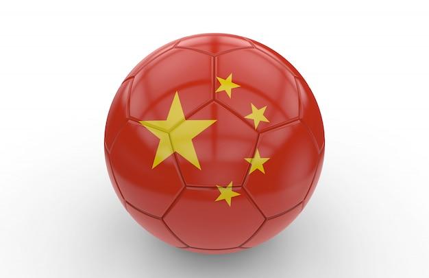 Ballon de foot avec drapeau de chine