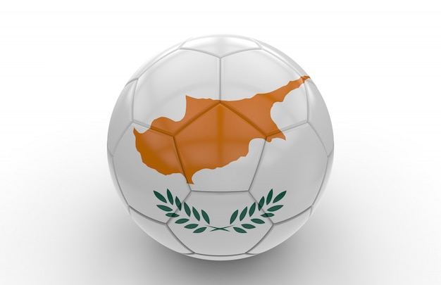 Ballon de foot avec drapeau de chypre