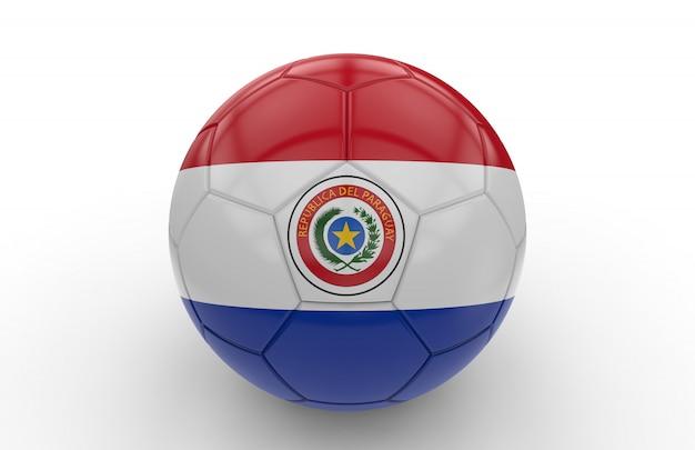 Ballon de foot avec drapeau du paraguay