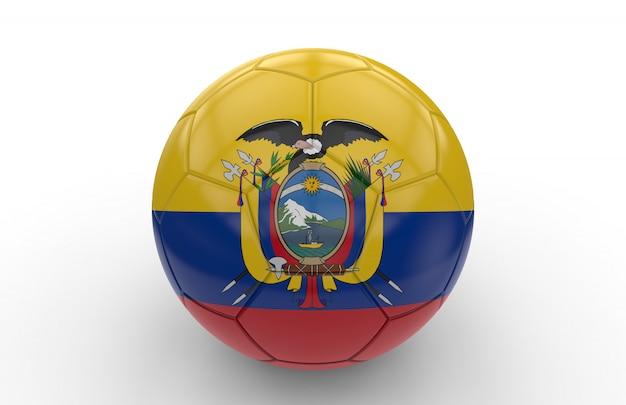 Ballon de foot avec drapeau de l'equateur