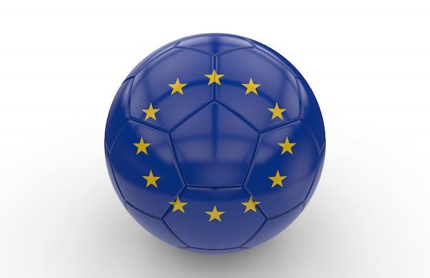 Ballon de foot avec drapeau européen