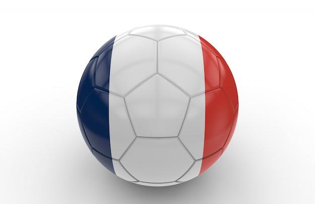 Ballon de foot avec le drapeau de la france