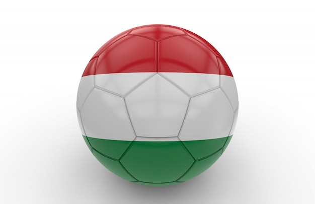 Ballon de foot avec drapeau hongrois