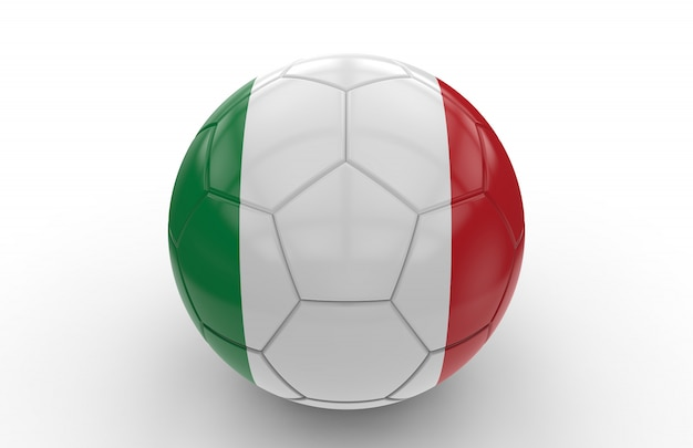 Ballon de foot avec drapeau italien