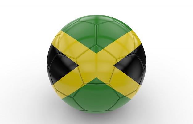 Ballon de foot avec drapeau jamaïcain