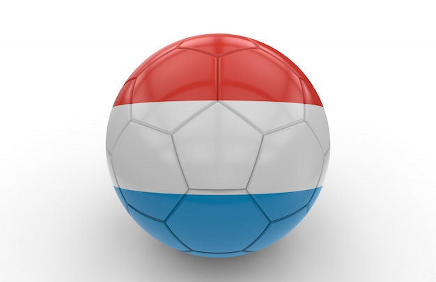 Ballon de foot avec drapeau luxembourgeois