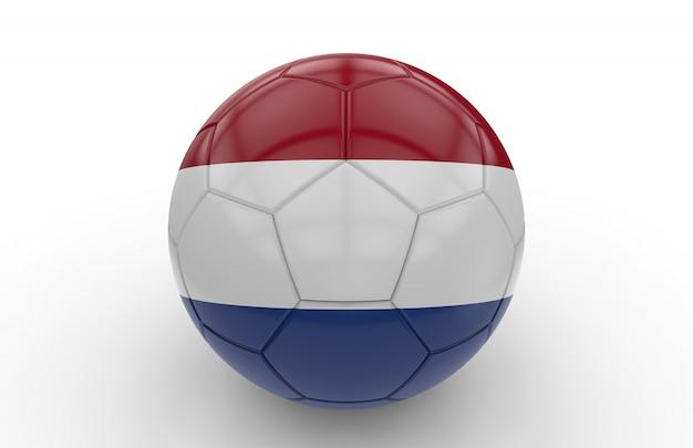 Ballon de foot avec drapeau des pays-bas