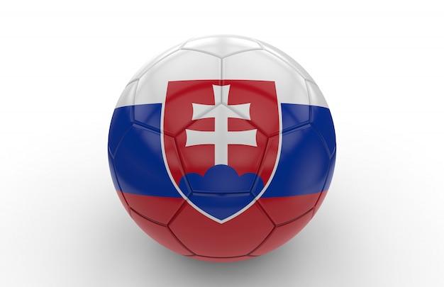 Ballon de foot avec drapeau slovaque