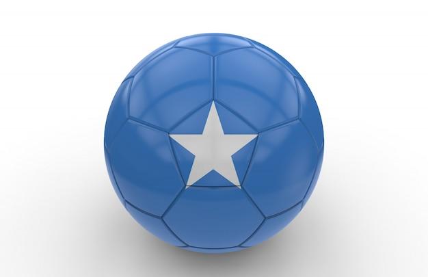 Ballon de foot avec le drapeau de la somalie
