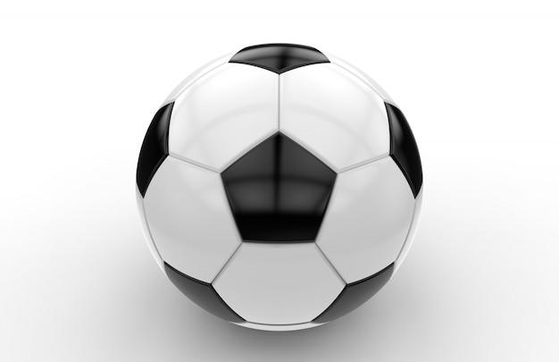 Ballon de foot noir et blanc