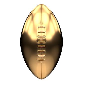 Ballon de football américain doré isolé