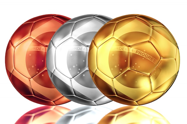 Ballon de football brésilien en métal