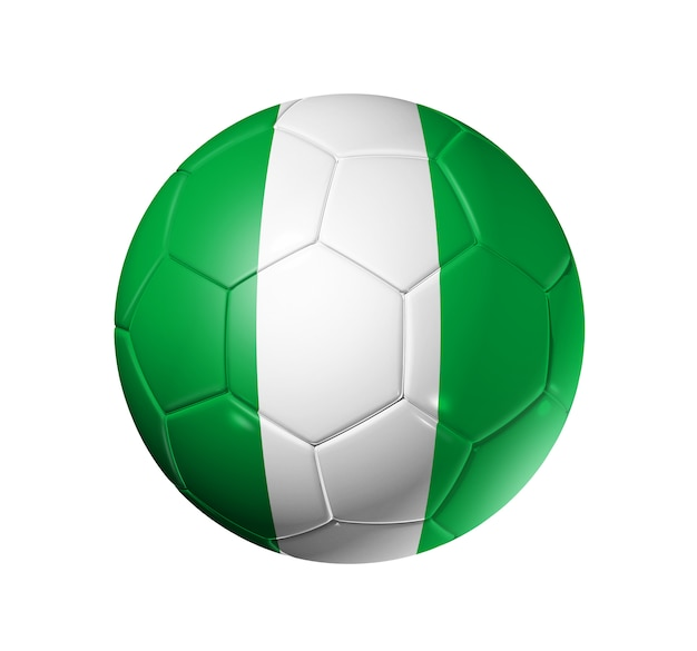 Ballon de football avec le drapeau du nigeria