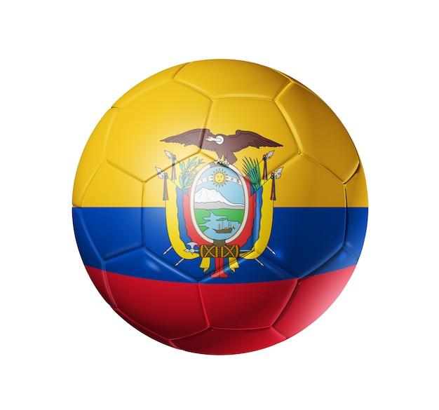 Ballon de football avec le drapeau de l'équateur