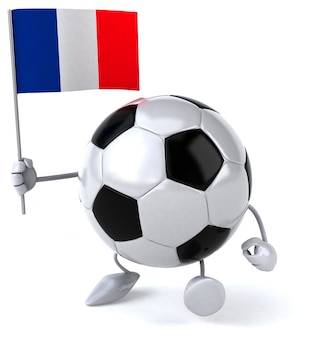 Ballon de football - personnage 3d