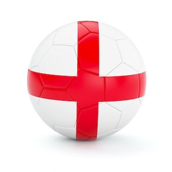 Ballon de football soccer avec le drapeau de l'angleterre