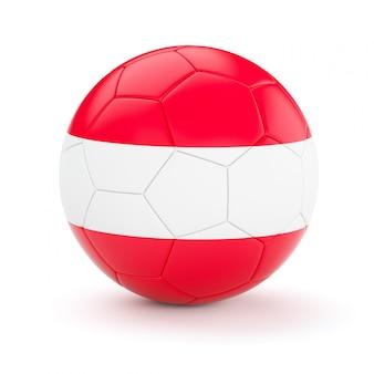 Ballon de football soccer avec le drapeau de l'autriche