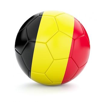 Ballon de football soccer avec le drapeau de la belgique