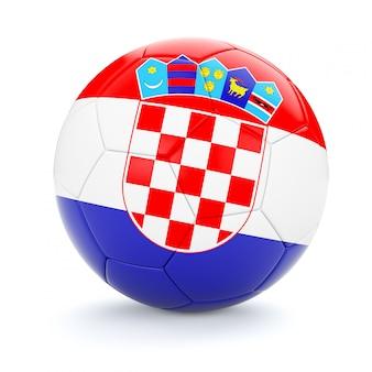 Ballon de football soccer avec le drapeau de la croatie
