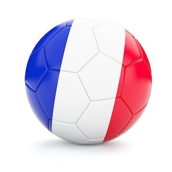 Ballon de football soccer avec drapeau france