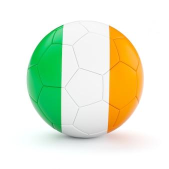Ballon de football soccer avec le drapeau de l'irlande