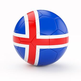 Ballon de football soccer avec le drapeau de l'islande