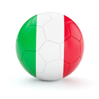 Ballon de football soccer avec le drapeau de l'italie