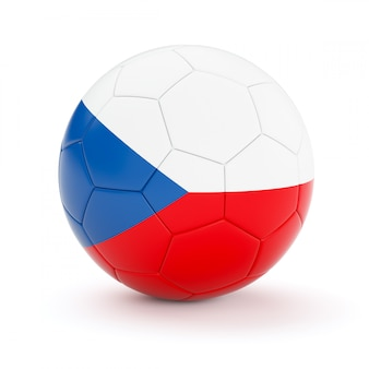 Ballon de football soccer avec le drapeau de la république tchèque
