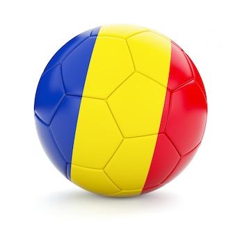 Ballon de football soccer avec le drapeau de la roumanie