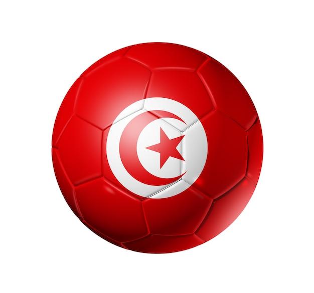 Ballon de football soccer avec le drapeau de la tunisie
