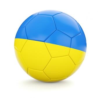 Ballon de football soccer avec le drapeau de l'ukraine