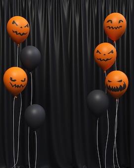 Ballon halloween fond vertical