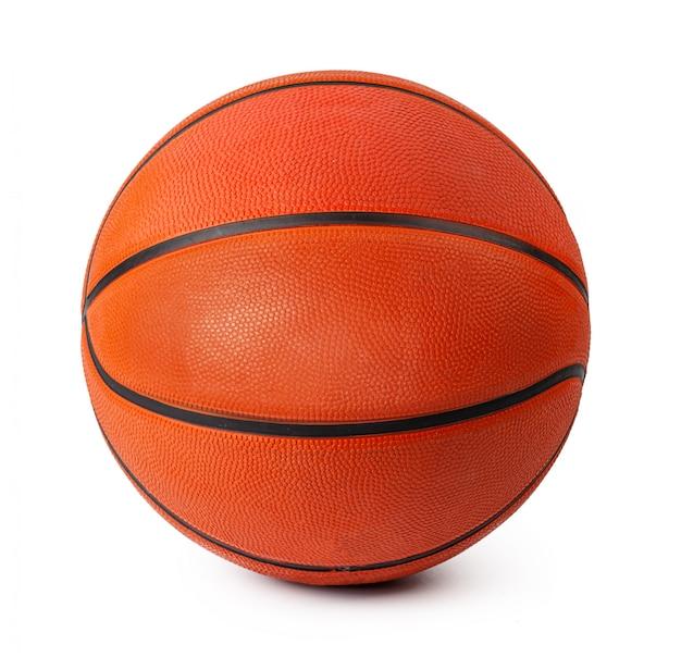 Ballon de match de basket isolé sur blanc