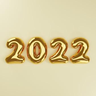 Ballon d'or du nouvel an 3d sur fond d'or