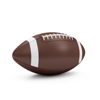 Ballon de rugby sur blanc