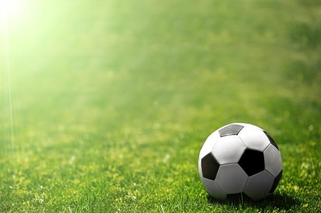 Ballon de soccer sur l'herbe