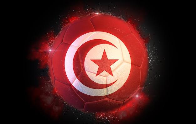 Ballon de soccer texturé avec le drapeau de la tunisie