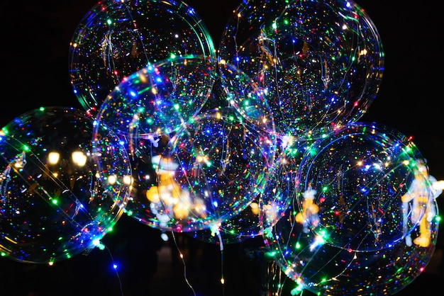 Ballon transparent à led, parfait pour fête, mariage, noël, décoration, promotion