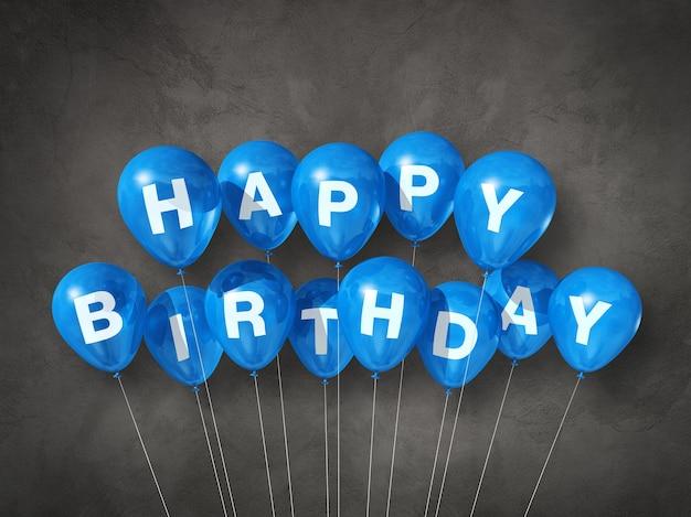 Ballons à air bleu joyeux anniversaire