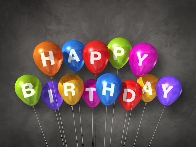 Ballons à air colorés joyeux anniversaire