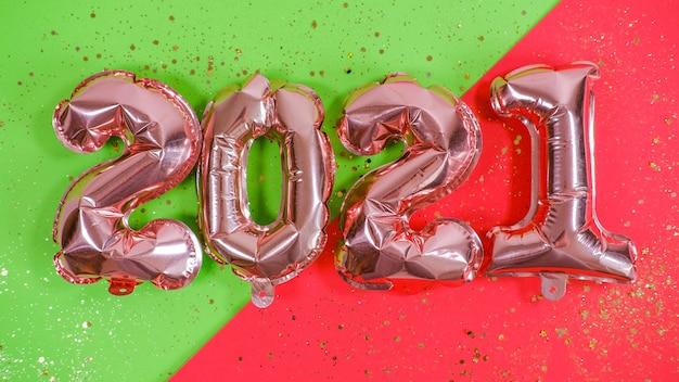 Ballons en aluminium sous forme de nombres 2021