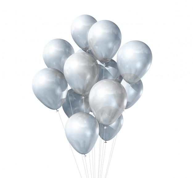 Ballons blancs isolés