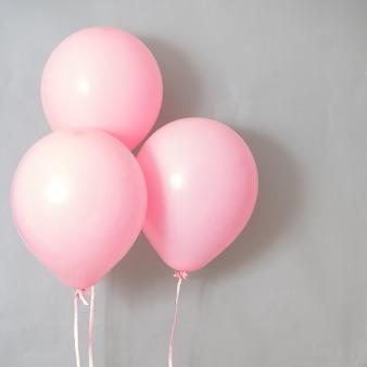 Ballons de couleur rose pastel pour la fête