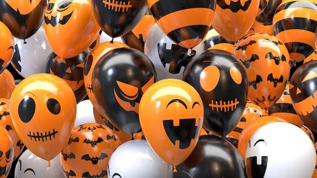 Ballons d'halloween de rendu 3d