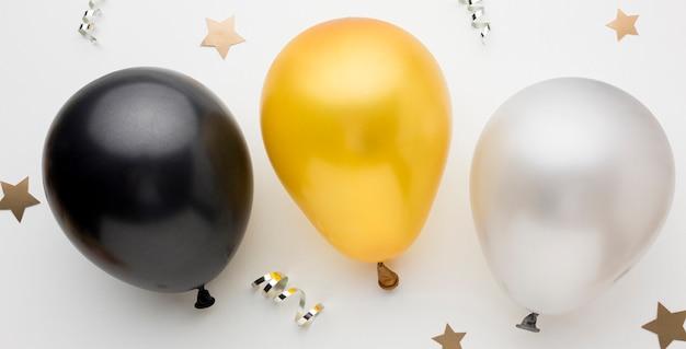 Ballons vue de dessus pour la fête