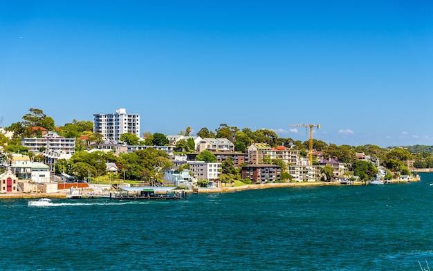 Balmain east, une banlieue de l'inner west de sydney, australie