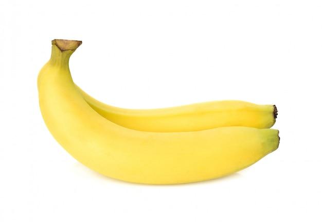 Banane isolé sur blanc