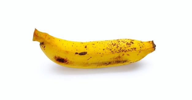 Banane mûre isolé sur fond blanc